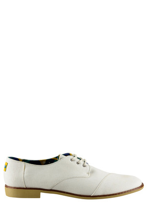 TOMS - Twill Brogue Ceremony White Loafer