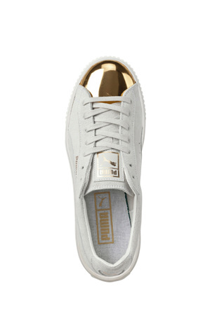 Puma - Suede Creeper White Gold Sneaker