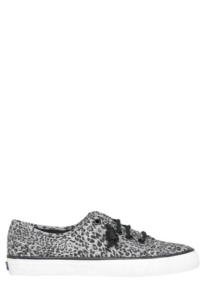 Sperry - Seacoast Cheetah Grey/Black Sneaker