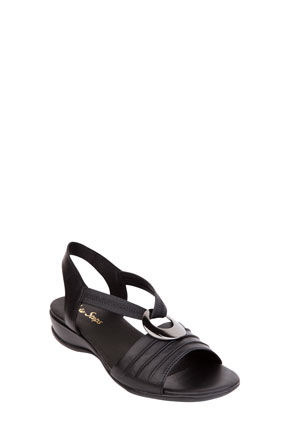 Wide Steps - Chase Black Glove Sandal