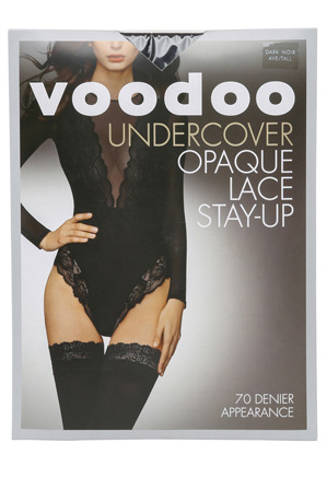 Voodoo - Undercover Opaque Lace Stay Up H30526