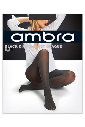 Ambra - Black Diamond Net Opaque Tight