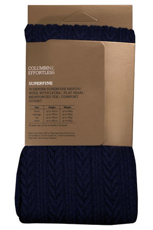 Columbine - Cable Superfine Wool Tight