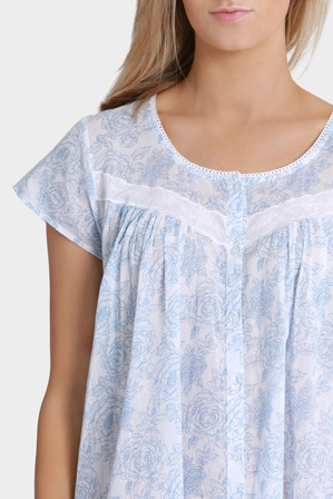 Bonne Nuit - 'Blue Rose' Short Sleeve Brunch BNMH106