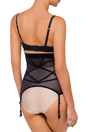 Nancy Ganz - 'Sheer Decadence' High Waist Suspender W1007