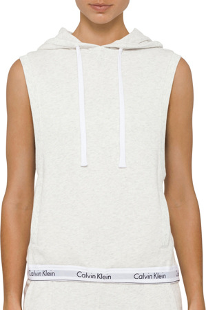 Calvin Klein - 'Modern Cotton Line Extension' Hoodie Sleevless Top QS5670