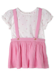 Girls Pinafore with Top Set