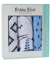 Bubba Blue - BB-92758 3 pack muslin wraps