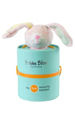 Bubba blue pink bunny security blanket myer online blue bear and pink bunny are attached to a blanket bodye perfect comfort toy for babies ideal for baby shower and new baby gifts negle Images