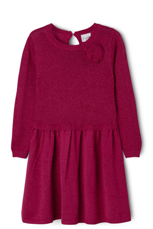 Origami - Lurex Knit Dress With Rosette 3-8