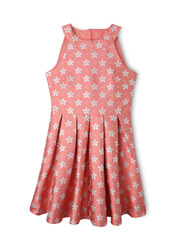 Origami - Jacquard Halter Dress With Silver Lurex - Peach