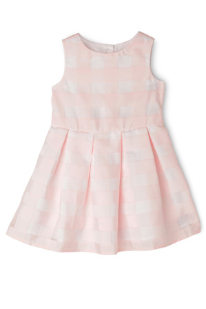 Origami - Pink Organza Check Party Dress