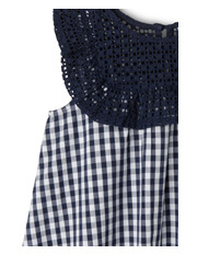 Milkshake - Gingham Broderie Yoke Dress