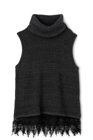 Tilii - Sleeveless Knit Top - Charcoal
