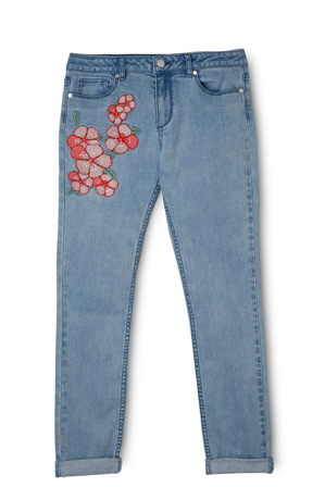 Tilii - Embroidered Boyfriend Jean