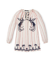 SCOTCH R'BELLE - Tunic Dress with Embroideries