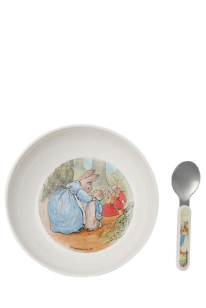 Peter Rabbit\u0027s Bowl \u0026 Spoon Set by Beatrix Potter is an adorable collection to your child\u0027s dinnerware. Made from stainless steel and food-safe melamine.  sc 1 st  Myer & Beatrix Potter | Bowl \u0026 Spoon Set | Myer Online