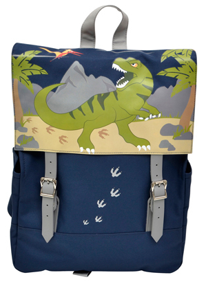 Bobble Art - School Satchel in Dinosaur Design