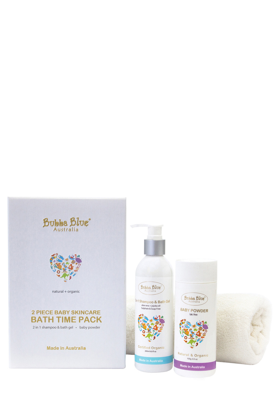 Myer bathroom accessories - Bubba Blue Bath Time Organic Baby Skincare Gift Set 2pc Myer Online
