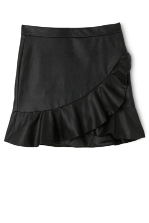 Bardot Junior - Frill PU Skirt