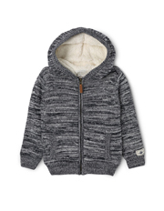 Milkshake - Stripe Zip Thru Sherpa Jacket