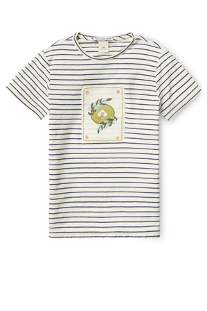 SCOTCH SHRUNK - Tee with Worked Out Embroidered Artworks