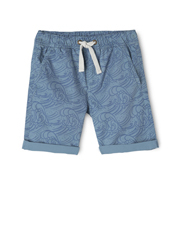 Jack & Milly - Josh Elastic Waist Printed Shorts With Rolled Cuff