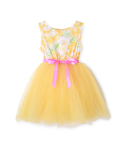 Origami - Yellow Floral Tutu Dress 0-2