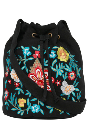 Miss Shop - Embroidered Bucket Bag