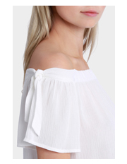 Milk & Honey - Off the Shoulder Tie Top