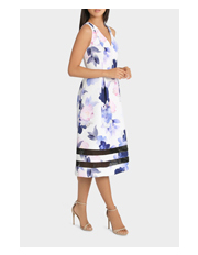 Tokito Collection - Lace Insert Midi Fit and Flare Dress
