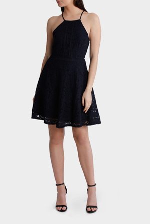 Tokito Collection - Strappy Lace Fit and Flare Dress