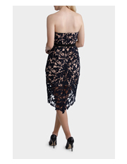 Tokito Collection - Strapless Lace High Low Dress