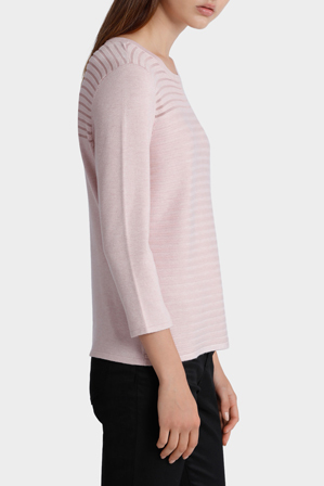 Tokito - 3/4 Sleeve Sheer Panel Jumper