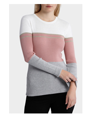Tokito - Colour Block Long Sleeve Jumper