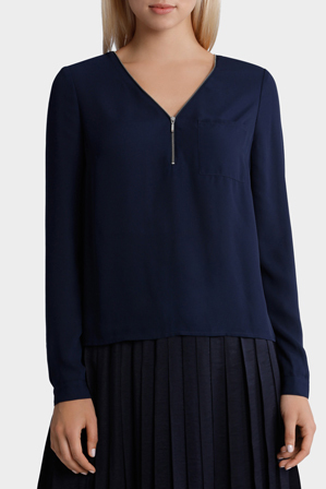 Tokito City - Zip Neck Top