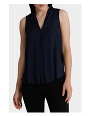 Tokito - V-neck Pleat Front Top