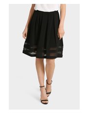 Tokito - Geo Lace Panel Skirt