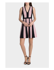 Tokito - Contrast Panelled Work Dress