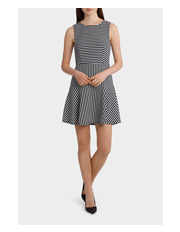 Tokito - Mixed Stripe Skater Dress