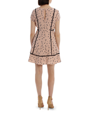 Tokito - ladder lace insert dress - falling floral