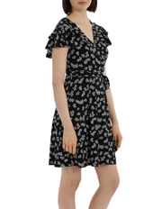 Tokito - Frill Front Wrap Dress