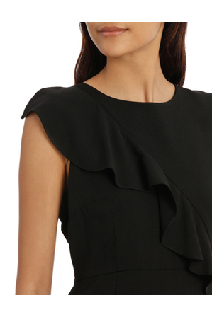 Tokito - ruffle work dress - black