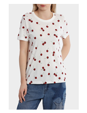 ONLY - Melon Short Sleeve Cherry Print Top