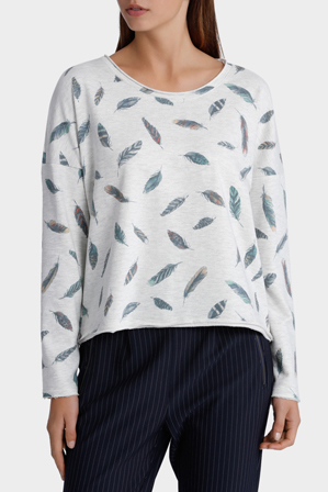 ONLY - Long Sleeve Feather Sweat Top