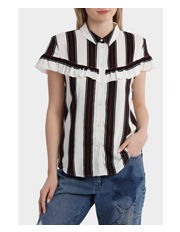 ONLY - Therese Long Sleeve Frill Shirt