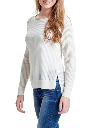 ONLY - Rose Rib Long Sleeve Pullover Knit