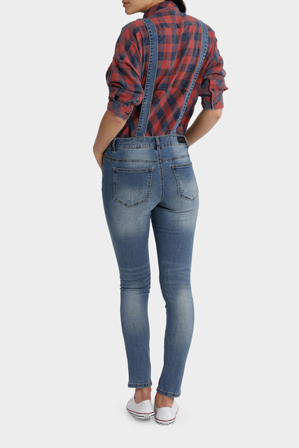 ONLY - Kim Witty Blue Denim Overall