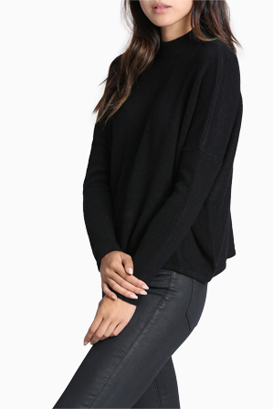 Milk & Honey - Stand Neck Slouchy Jumper