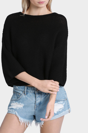 Milk & Honey - Slouchy Cropped Jumper